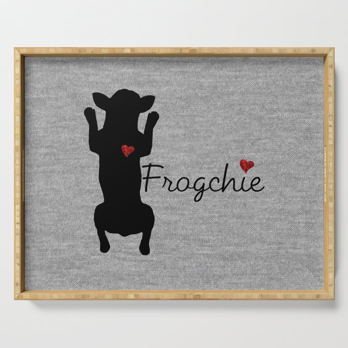 Frogchie French Bulldog Serving Tray