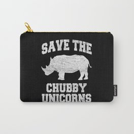 Save The Chubby Unicorns Carry-All Pouch