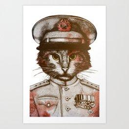 Badass Pets : The Siberian Captain Art Print