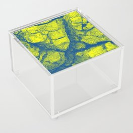 Abstract - in yellow & green Acrylic Box