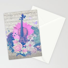 """VIOLIN by collection """"Music"""" Stationery Cards"""