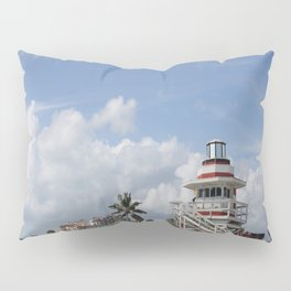 South Beach Miami Lifeguard Station Pillow Sham