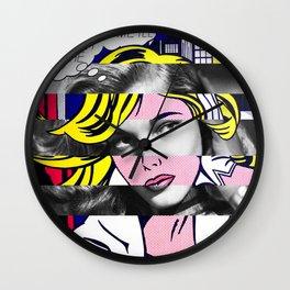 Roy Lichtenstein & Lauren Bacall Wall Clock