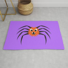 Spooky Spiders - Ginger Reg Cartoon Spider on Web Rug