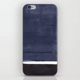 Navy Black Rothko Fun Colorful Mid Century Modern Abstract Painting Shapes Pattern iPhone Skin