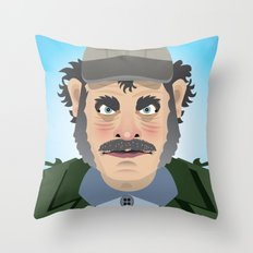 Jaws Quint Throw Pillow