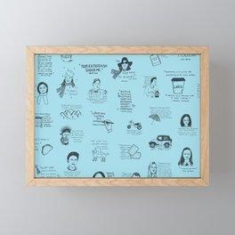Gilmore Girls Quotes in Blue Framed Mini Art Print