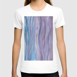 Touching Purple Blue Watercolor Abstract #2 #painting #decor #art #society6 T-shirt
