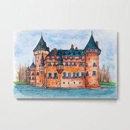 De Haar Castle Metal Print