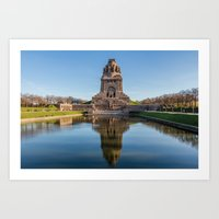 Battle of the Nations Monument in Leipzig Art Print