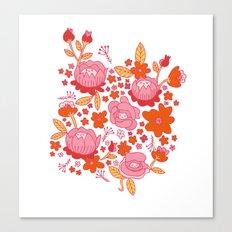 Floral Folk Canvas Print
