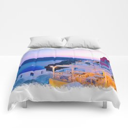 Santorini Sunset II Comforters