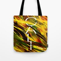 camo Tote Bags featuring CAMO CALI by Chrisb Marquez