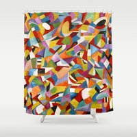 lv Shower Curtains featuring I LV YOU! by Erick Stow