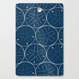 Sanddollar Pattern in Blue Cutting Board