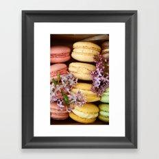 Pretty Macaroons Framed Art Print