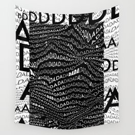 History of Art in Black and White. DADA Wall Tapestry