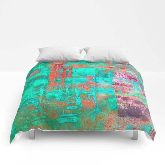 Abstract Ladder Comforters