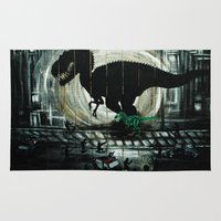 dinosaur Area & Throw Rugs featuring dinosaur by mass confusion