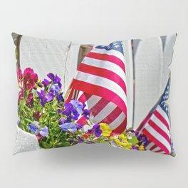 Flags & Flowers Pillow Sham