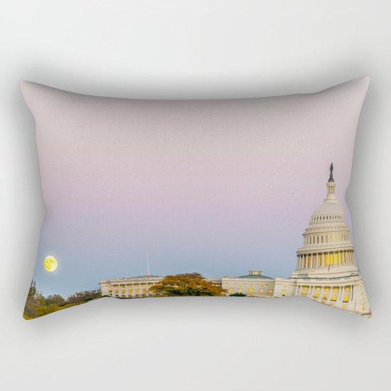 Sunrise Moon Rectangular Pillow