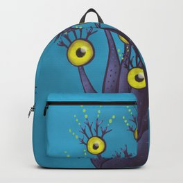Tree Monster With Yellow Eyes | Digital Art Backpack