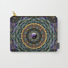 Purple Yin Yang Sacred Geometry Fractals Carry-All Pouch