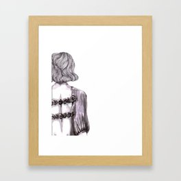 Bare Back Framed Art Print