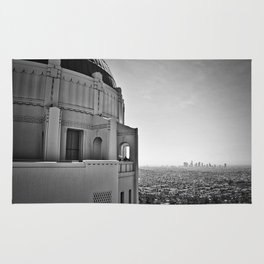 Griffith Park Observatory And Downtown Los Angeles Rug