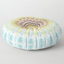 Mandala wintersun Floor Pillow