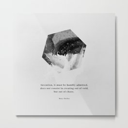 Minimalist Hexagon Shelley Metal Print