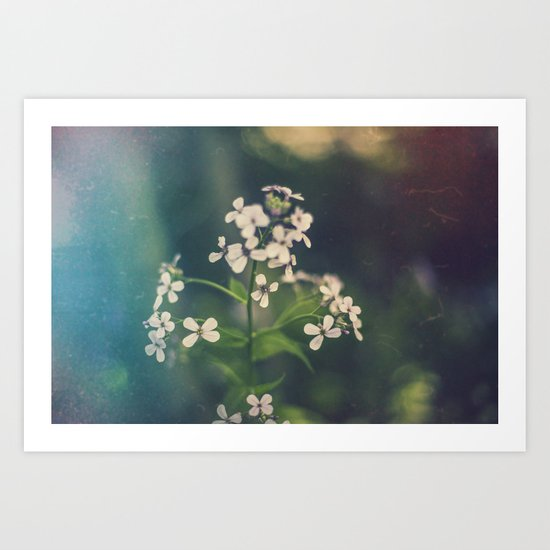 And we spent the hours with submarine flowers Art Print