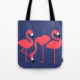 fluorescent flamingos Tote Bag