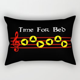Time For Bed - Zeldas Lullaby (The Legend Of Zelda: Ocarina Of Time) Rectangular Pillow