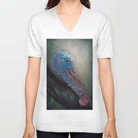 turkey V-neck T-shirts featuring Turkey by Pauline Fowler ( Polly470 )