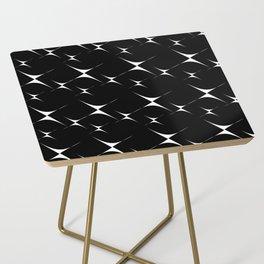 Optical Pattern Black Side Table