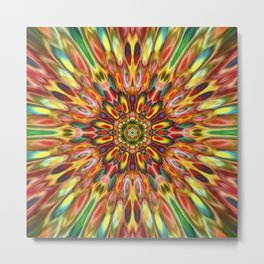 Multicolour Starburst 8 Metal Print