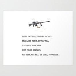 Sniper Art Print