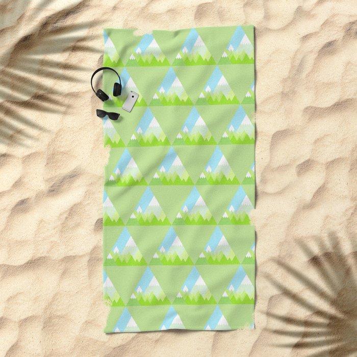 national park geometric pattern Beach Towel