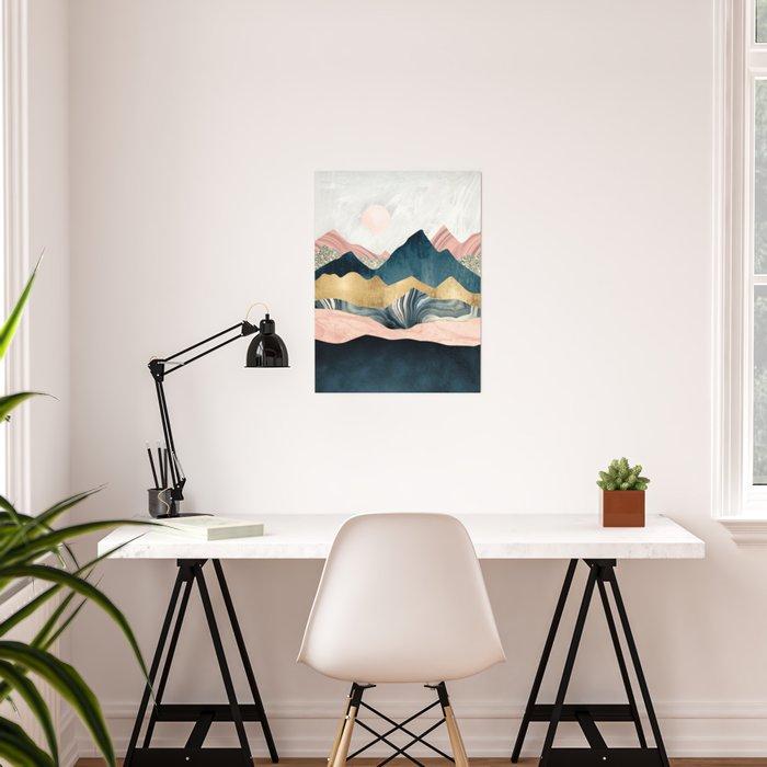 Plush Peaks Poster