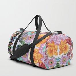 Floral Skull Mask II Duffle Bag