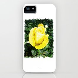 Yellow Rose Bud iPhone Case