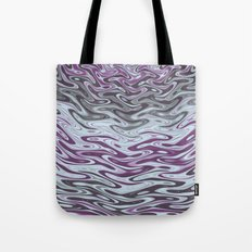 Ripples Fractal in Muted Plums Tote Bag