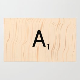 Letter A Scrabble Art Rug