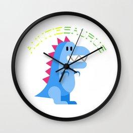 Funny Auntiesaurus Dinosaurs Jurassic Jura Design Wall Clock