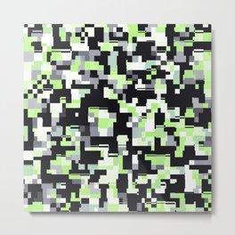 Agender Pride Irregular Pixel Pattern Metal Print