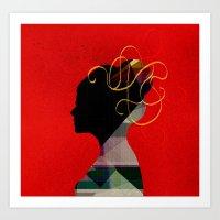 redhead Art Prints featuring Redhead by John Murphy