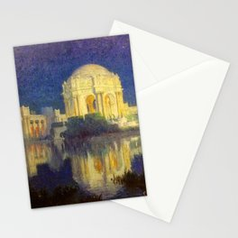 San Francisco Palace of the Fine Arts Temple and Lagoon landscape painting by Colin Campbell Cooper  Stationery Cards