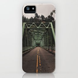 Pacific North West Green Bridge iPhone Case