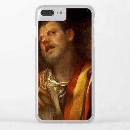 """Giorgione (Giorgio Barbarelli da Castelfranco) """"Sansone deriso"""" or """"The concert"""" Clear iPhone Case"""
